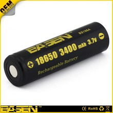 Basen 18650 3400mAh battery li-ion E-cigarette battery hold many application rechargeable battery powered led sign