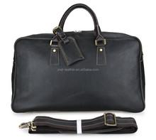 Classic Genuine Leather Men's Dark Brown Near Black Laptop Bag Travel Tote Bag, Dispatch Duffle Bag 7156LA