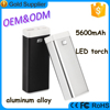 Aluminum Alloy power bank mobile charger for iphone4/5/6, portable general power banks