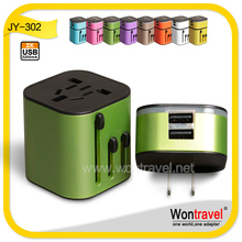 Wontravel THE NEWEST OEM plug charger/quick deliver universal adapter with double usb for Business Travel GIFT