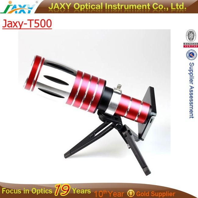 Alumínio 50X Zoom Telescope Camera Lens + Back Case + tripé Kits para o iPhone 4 4S