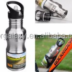 750ml Portable Outdoor Sports Bicycle Cycling Stainless Steel Water Bottle with Removable Straw