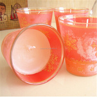 new design glass jars with soy wax glassware for candle