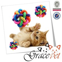 Dog Toy High Flexible Silicone Rubber Ball With Bell