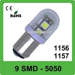 ECO-friendly 9 SMD 5050 LED DC 12V&24V dome led driving bulb