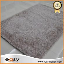Aubusson polyester shaggy fire proof logo floor mat