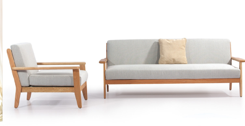wood and pu leather fabric sofa set designs