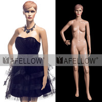 M009-XFF03 Skin color Realistic Plastic female mannequin with head