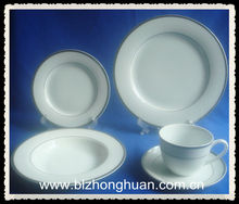 silvery design commercial tableware dinnerware sets