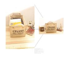 2015 fashion stylish printed promotion jute bag shopping tote small jute bag