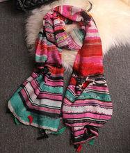Simple Style Geometric Scarfs New Styles Fashion Scarf Shawl Women Viscose Scarves Pashmina Wraps