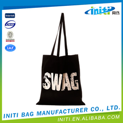 Custom logo factory price canvas shopper tote bag