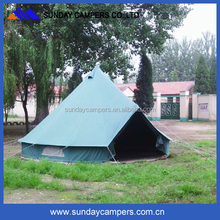 Easy set up round outdoor canvas bell tent for sale