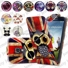For Samsung Galaxy S4 I9500 Folio Print Flip Leather Case Phone Bag Back Cover Bags