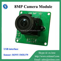 Best selling 8MP USB interface embedded camera module for Linux
