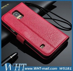 Genuine Leather Case for Samsung Galaxy S5, with Landyard