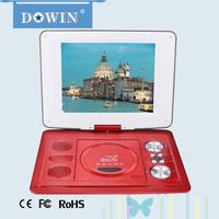 manufacture OEM Unique Model DOWIN FL-138W Wholesale Classic HD Portable DVD Player with USB VGA AV TV FM SD