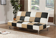 Click clack round leather sofa bed,corner group sofa bed