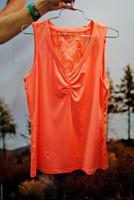 New Collection 86% nylon 14% spandex dry fit neon yellow custom ladies tank top