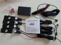 Car LED Parking Reversing System Original Flat 4 Sensors Auto Rear Kit