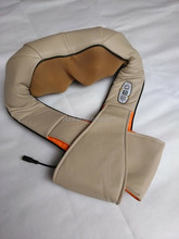 comfortable car office using neck massager