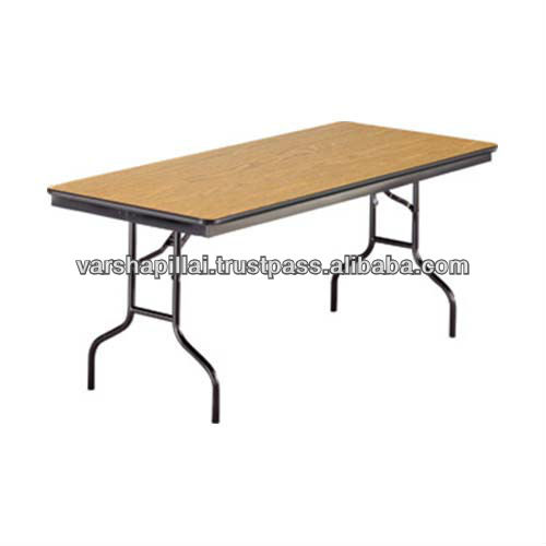 Wood stacking and folding round folding banquet table for Table cuisine retractable