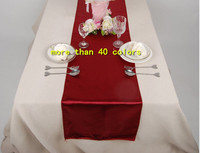 Wholesale high quality wedding/banquet/hotel satin table runner for round table