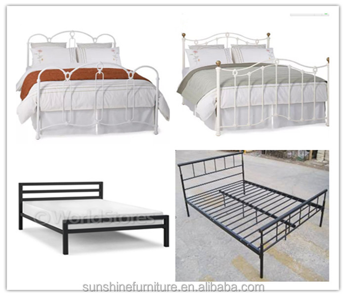 Cheap hotel home queen full twin single sofa metal bed for Cheap metal twin bed frame