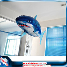 NEW Remote Control Air Flying Shark+Fish Inflatable Toy ,Sky Swimmers,Funny RC Model Swimming In The Air ,Gift