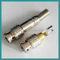 Gold BNC Male Video Plug Coupler Connector to screw for RG59 Cable Adapter