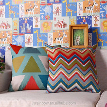 High Quality pure cotton canvas custom sofa digital printing cushion cover wholesale