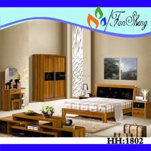 Melamina juego de dormitorio de madera dormitorio muebles juego de dormitorio ( HH1802 )