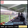 aluminium frame fire,water,sun proof automatic dog show tent 850G/SQM top cover 650G/SQM sidewall