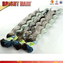 Hot sell High quality 7pcs hair weft colorfully per hair bundle
