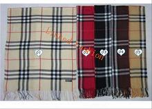 Rayon Ladies Blanket Classic Check Big Tartan Scarf Plaid Cozy check cashmere scarf Scarf