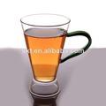 de pared simple beber vaso de vidrio con mango de color