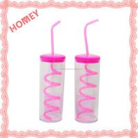 Plastic Cup With Straw Sports/Travel Tumbler Herringbone