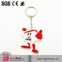 3d soft pvc keychain for sports