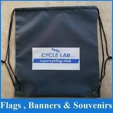 Black drawstring bag for gym dance school chother shoe sport