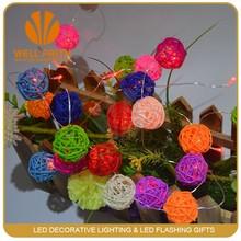 LED magic mini plasma rattan ball lights