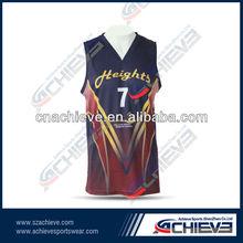 Red and deep blue vivid basketball tops/ shorts