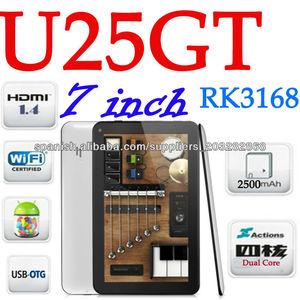 Android 4.2 del cubo U25GT RK3168 Dual Core 7 pulgadas 8GB 3MP wifi Tableta PC