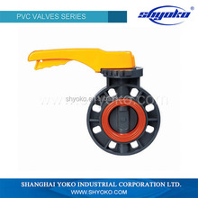 2015 factory price high quality PVC pipe fitting Plastic Tubes type butterfly valve