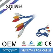 SIPU high quality blue 3rca to 3rca vga to rca/av cable micro usb