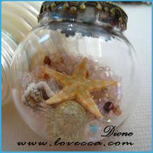 DIY girl balls necklace decoration hand blown glass ball
