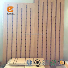 Acoustical Wall Cladding Interior MDF Veneer Laminated Sound Absorbing Panels Airport Waiting Room