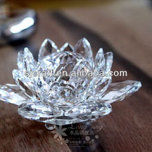 Crystal glass lotus flower wedding gift souvenir gift