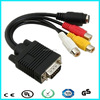 For PC computor av adapter cable Vga cable + 3 rca