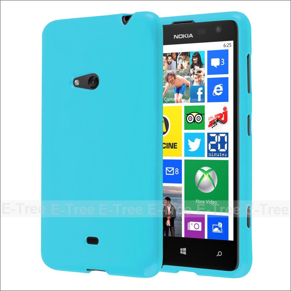 Jelly Glossy Silicone Mềm Tpu Trường Hợp Điện Thoại Cho Nokia Lumia 625 Bìa Trường Hợp