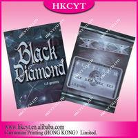 Black Diamond Herbal Incense Ziplock Bag 1.5g 3g 10g / Incense Bag / Incense Packing Bag